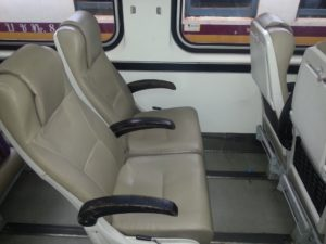 2nd Class Air Conditioned Seats on Train 43