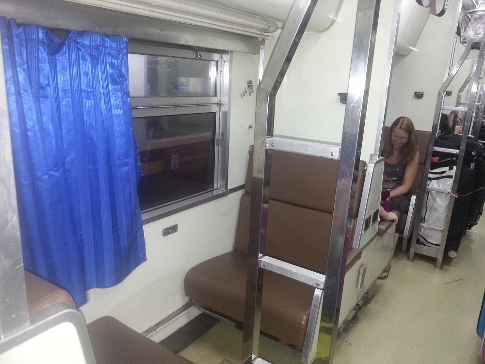 2nd Class Air Conditioned Sleeper Carriage on the 18.30 Train to Surat Thani