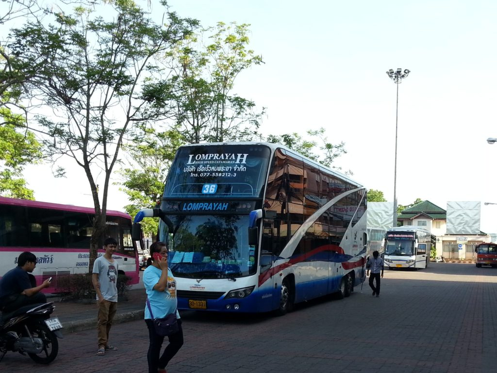 Bus from Surat Thani Train Station to Koh Samui