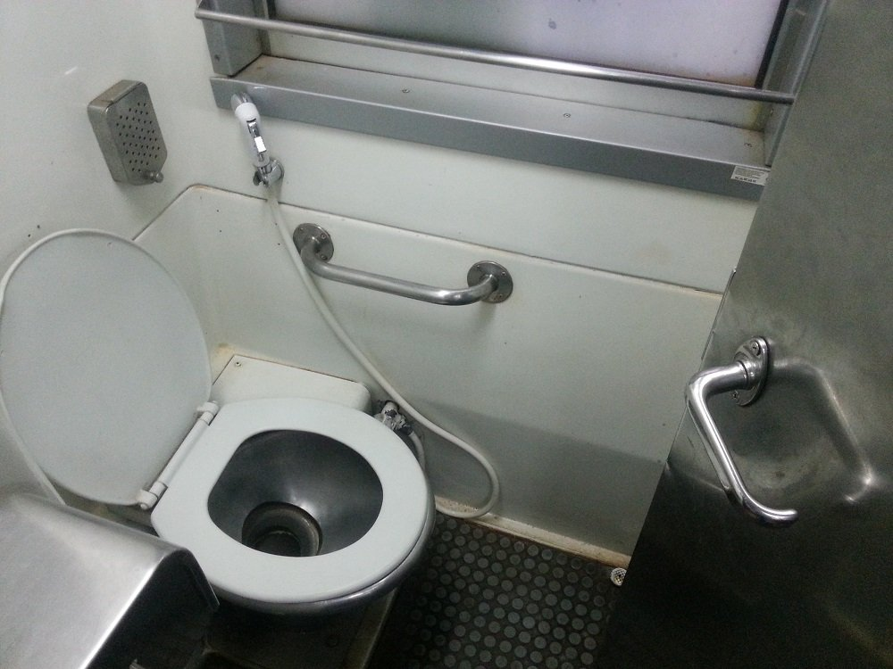 Clean and modern toilets on the 22.50 Train to Surat Thani