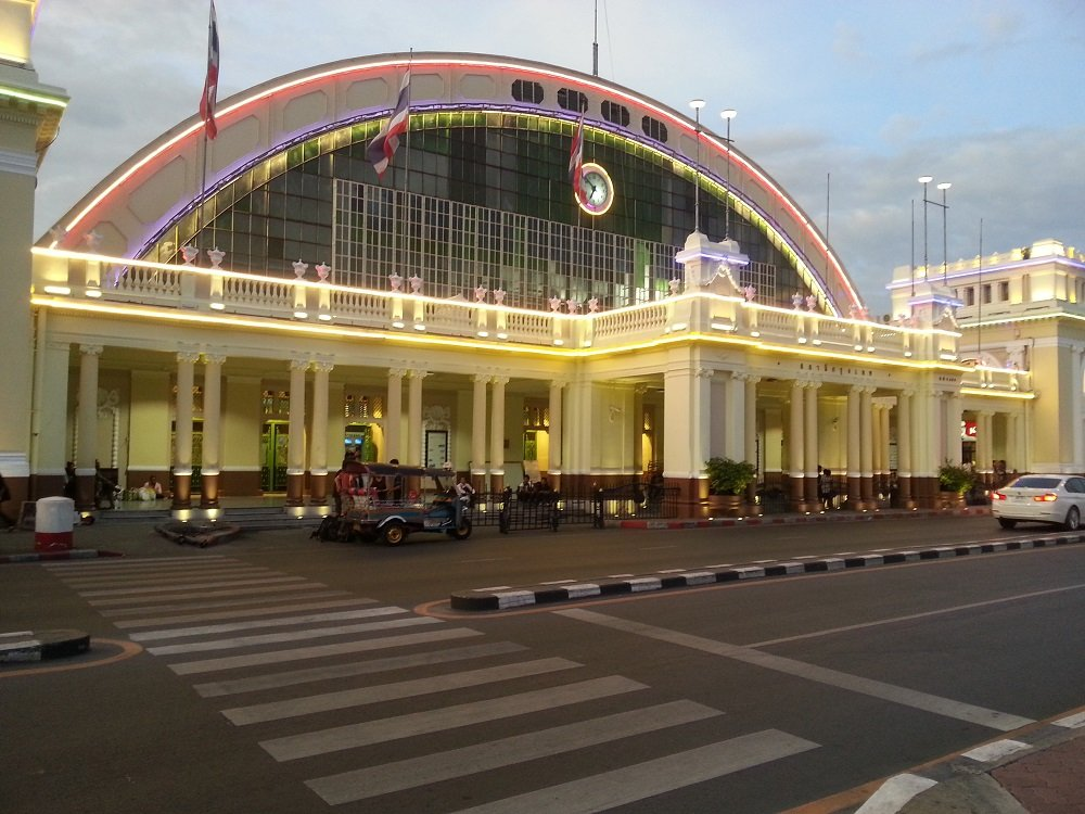 Front of Hua Lamphong Train Station